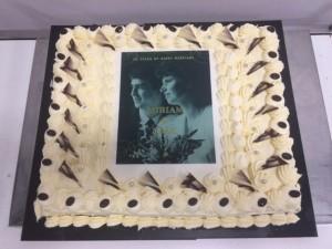 70 pers vanillecreme taart met foto 1