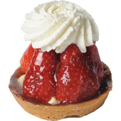 aardbeienHW gebak met slagroom