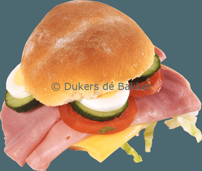 Belegd Broodje Boeren Gezond (met gehaktbal)