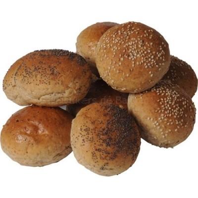 Mini zachte gemengde broodjes bruin