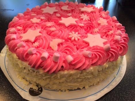 roze-sterren-taart