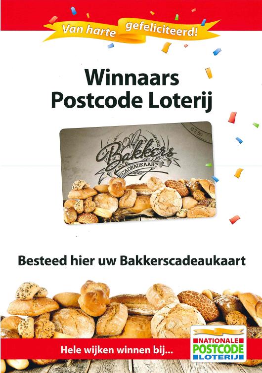 bakker cadeaukaart postcodeloterij