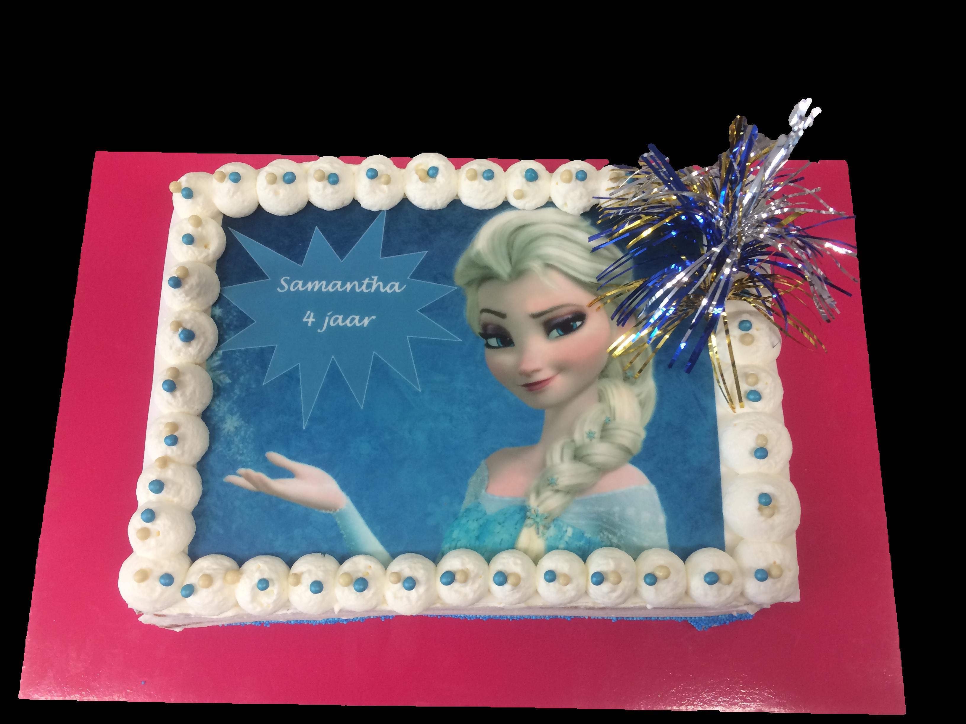 taart frozen met afbeelding