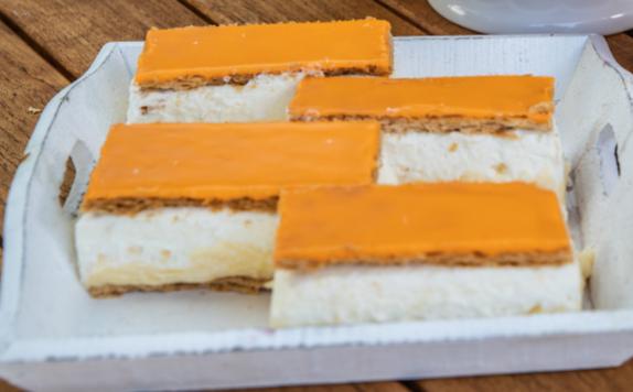 oranje tompoucen 4 stuks